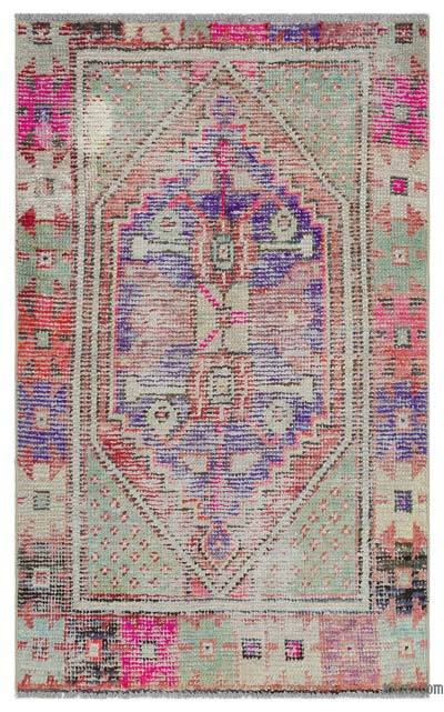 """Turkish Vintage Area Rug - 2'7"""" x 4'2"""" (31 in. x 50 in.)"""