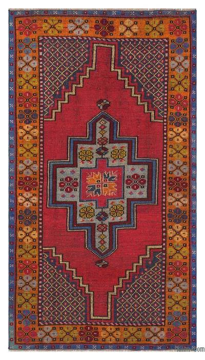 "Turkish Vintage Area Rug - 3'5"" x 6'2"" (41 in. x 74 in.)"
