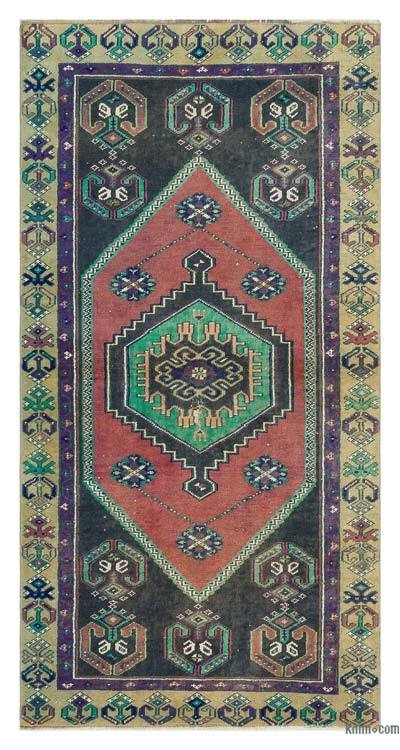 """Turkish Vintage Area Rug - 2' 9"""" x 5' 6"""" (33 in. x 66 in.)"""