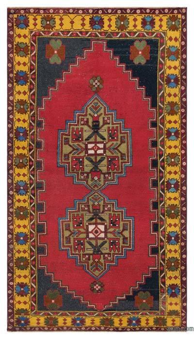 El Dokuma Vintage Halı - 119 cm x 210 cm