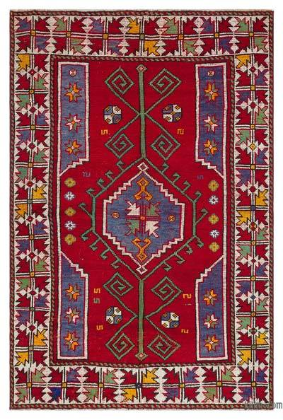 "Turkish Vintage Area Rug - 4'6"" x 6'8"" (54 in. x 80 in.)"