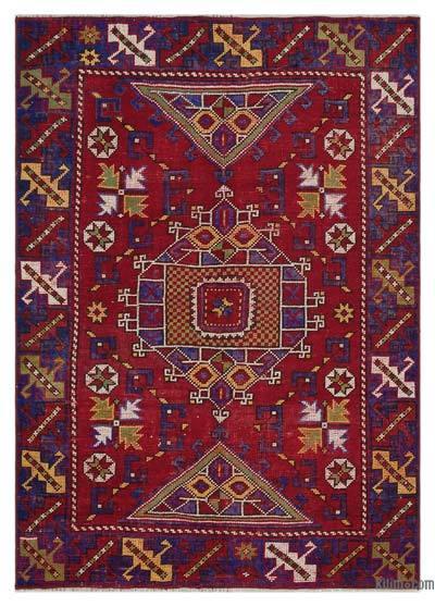 El Dokuma Vintage Halı - 126 cm x 177 cm