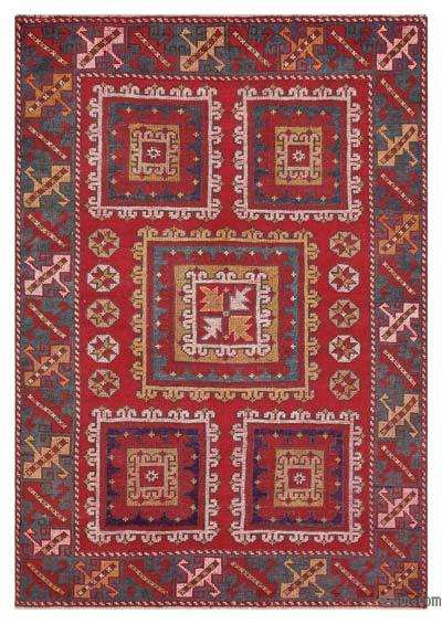 """Turkish Vintage Area Rug - 4'4"""" x 6'1"""" (52 in. x 73 in.)"""