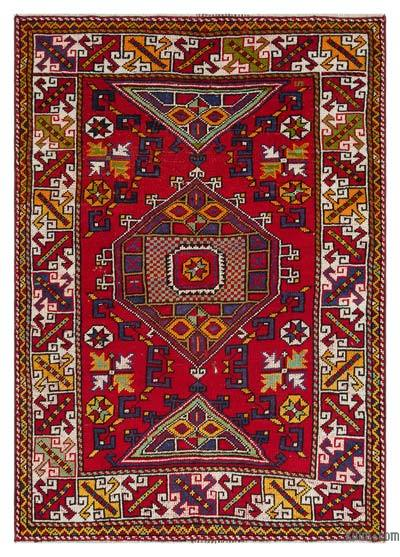 "Turkish Vintage Area Rug - 4'1"" x 5'8"" (49 in. x 68 in.)"