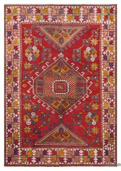 "Turkish Vintage Area Rug - 4'2"" x 6' (50 in. x 72 in.)"