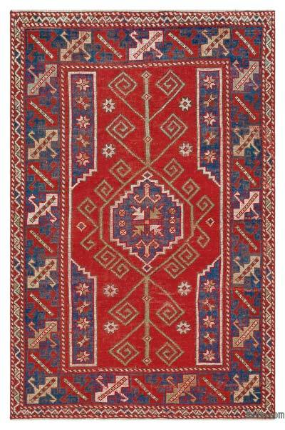 "Turkish Vintage Area Rug - 4' x 6'3"" (48 in. x 75 in.)"