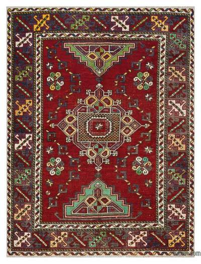 """Vintage Turkish Hand-Knotted Rug - Anatoli - 4' 5"""" x 5' 10"""" (53 in. x 70 in.)"""