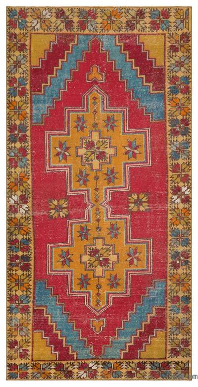 "Vintage Turkish Area Rug - Anatoli - 4' 7"" x 9' 3"" (55 in. x 111 in.)"