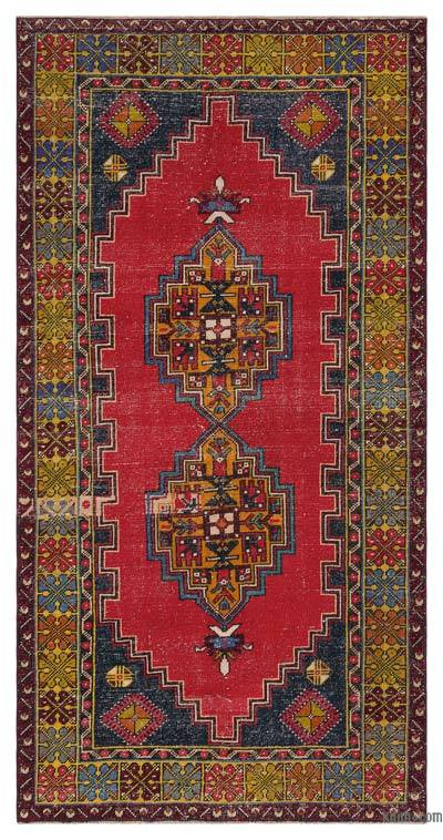 "Turkish Vintage Area Rug - 3'10"" x 7'7"" (46 in. x 91 in.)"