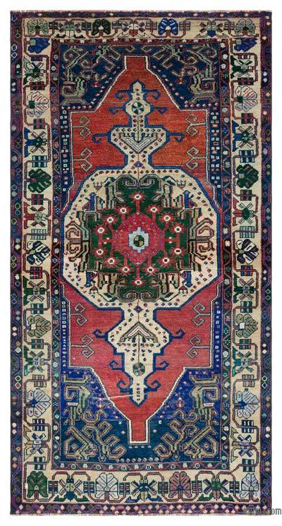 "Turkish Vintage Area Rug - 3'11"" x 7'4"" (47 in. x 88 in.)"