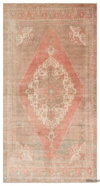"Turkish Vintage Area Rug - 4'8"" x 8'8"" (56 in. x 104 in.)"