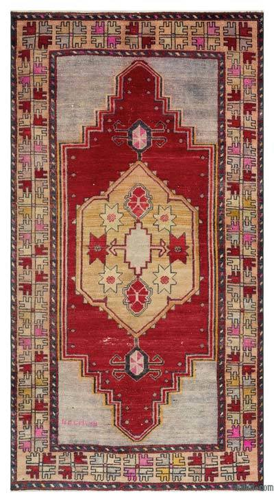 "Turkish Vintage Area Rug - 3'10"" x 7'5"" (46 in. x 89 in.)"