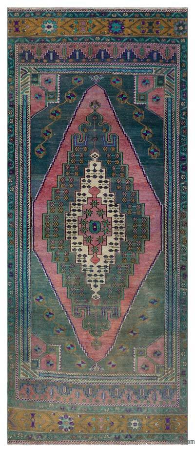 "Turkish Vintage Runner Rug - 4' x 9'3"" (48 in. x 111 in.)"