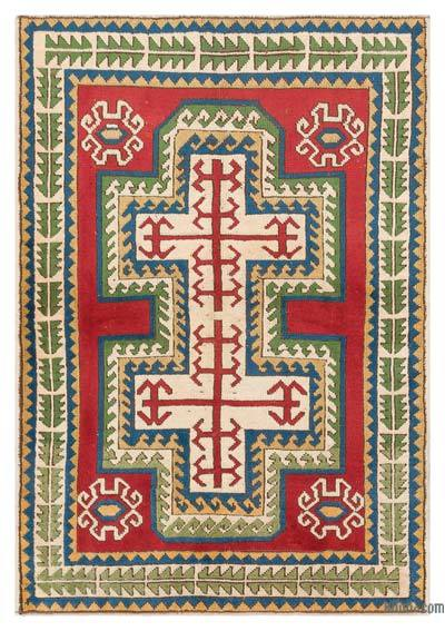 "Turkish Vintage Area Rug - 4'3"" x 6'1"" (51 in. x 73 in.)"