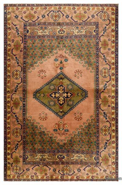 "Turkish Vintage Area Rug - 4'10"" x 7'7"" (58 in. x 91 in.)"