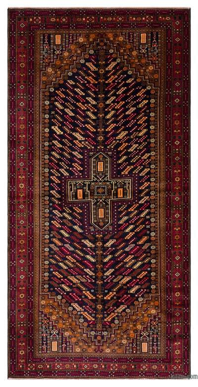 "Turkish Vintage Area Rug - 4' x 7'9"" (48 in. x 93 in.)"