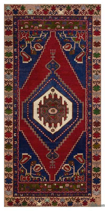 "Turkish Vintage Area Rug - 3'10"" x 7'10"" (46 in. x 94 in.)"