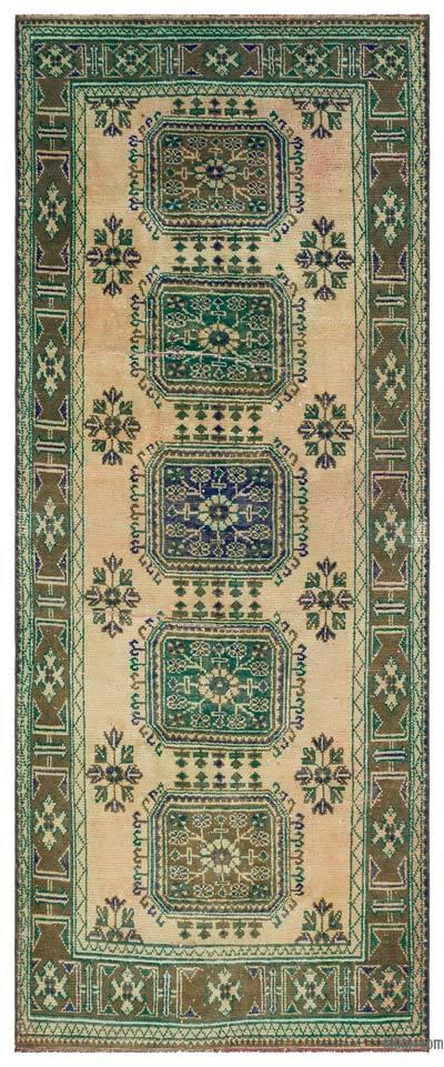 "Vintage Turkish Area Rug - Anatoli - 4' 6"" x 10' 11"" (54 in. x 131 in.)"