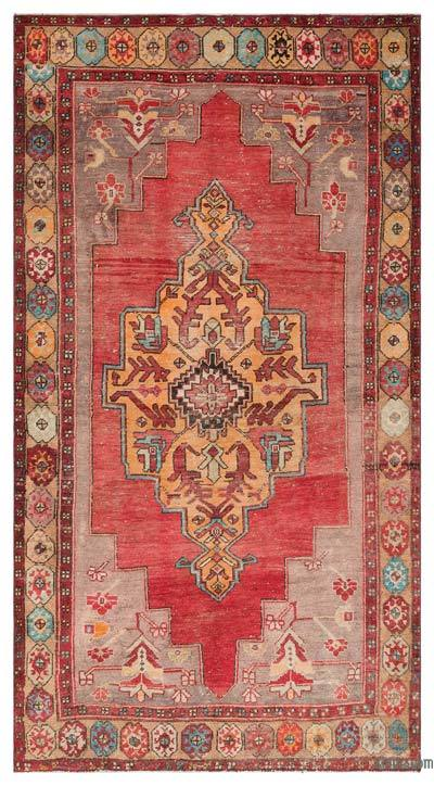 """Turkish Vintage Area Rug - 4'11"""" x 9' (59 in. x 108 in.)"""