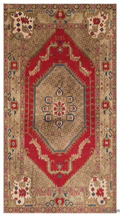 """Turkish Vintage Area Rug - 5' x 9'1"""" (60 in. x 109 in.)"""