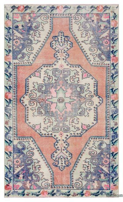 """Turkish Vintage Area Rug - 4'3"""" x 7'1"""" (51 in. x 85 in.)"""