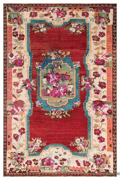 """Turkish Vintage Area Rug - 5'3"""" x 8'2"""" (63 in. x 98 in.)"""