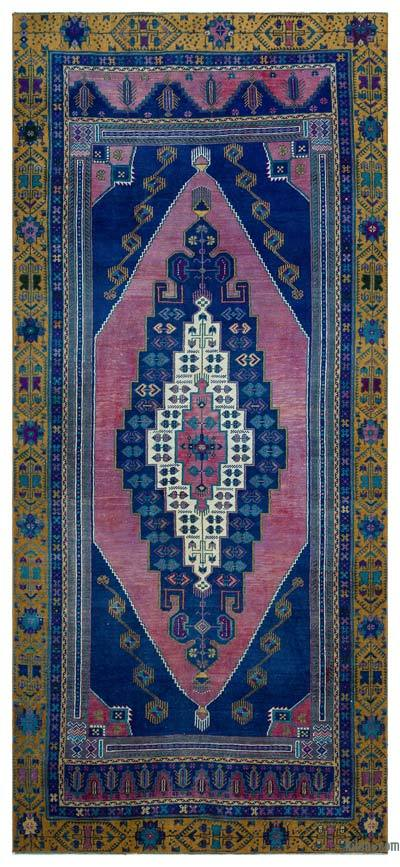 "Vintage Turkish Area Rug - Anatoli - 4' 11"" x 10' 9"" (59 in. x 129 in.)"