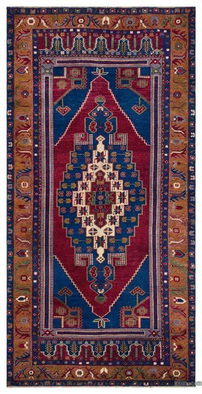 El Dokuma Vintage Halı - 138 cm x 280 cm