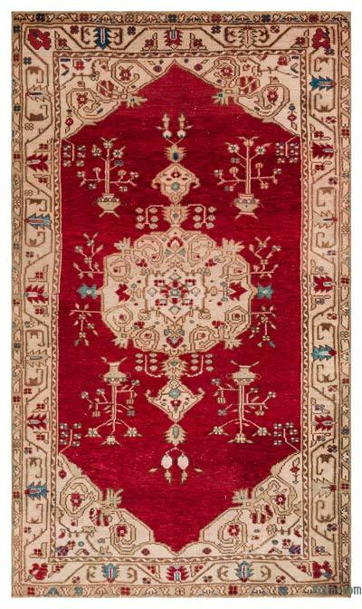 "Turkish Vintage Area Rug - 4'9"" x 8'1"" (57 in. x 97 in.)"
