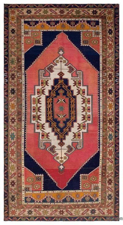 """Turkish Vintage Area Rug - 4' 9"""" x 9' 1"""" (57 in. x 109 in.)"""