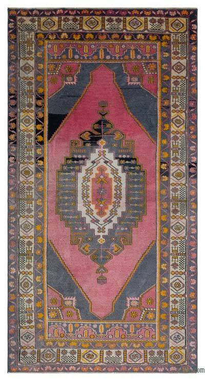 "Vintage Turkish Area Rug - Anatoli - 3' 11"" x 7' 6"" (47 in. x 90 in.)"