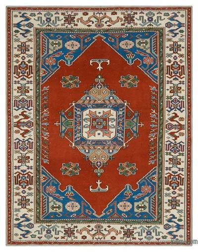 "Turkish Vintage Area Rug - 5'2"" x 6'8"" (62 in. x 80 in.)"