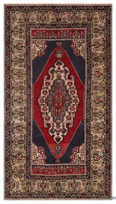 """Turkish Vintage Area Rug - 4'7"""" x 8'3"""" (55 in. x 99 in.)"""