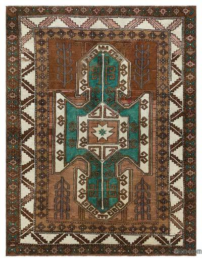 "Vintage Turkish Area Rug - Anatoli - 5' 3"" x 6' 10"" (63 in. x 82 in.)"