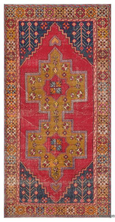 """Turkish Vintage Area Rug - 4'3"""" x 8'6"""" (51 in. x 102 in.)"""