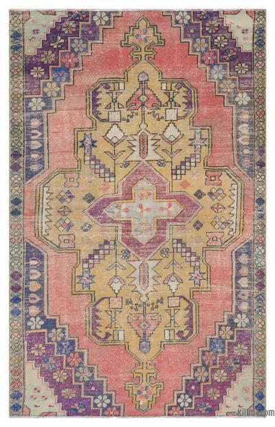 El Dokuma Vintage Halı - 138 cm x 221 cm