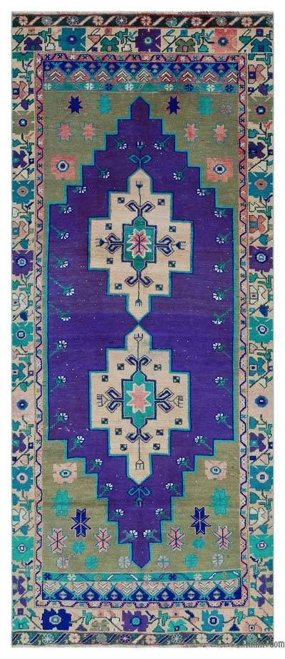 """Turkish Vintage Area Rug - 3'8"""" x 8'6"""" (44 in. x 102 in.)"""