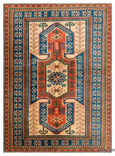 "Turkish Vintage Area Rug - 5'3"" x 7'1"" (63 in. x 85 in.)"