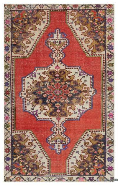 "Turkish Vintage Area Rug - 4' 6"" x 7' 2"" (54 in. x 86 in.)"