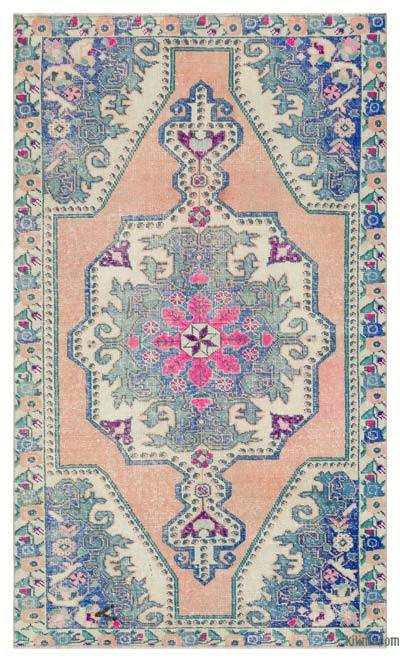 "Turkish Vintage Area Rug - 4'4"" x 7'3"" (52 in. x 87 in.)"