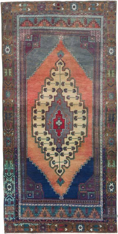 "Vintage Turkish Area Rug - Anatoli - 4' 3"" x 8' 6"" (51 in. x 102 in.)"