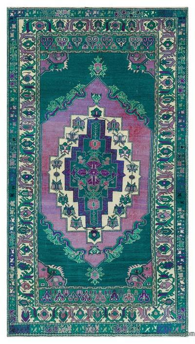 """Turkish Vintage Area Rug - 4' 2"""" x 7' 5"""" (50 in. x 89 in.)"""