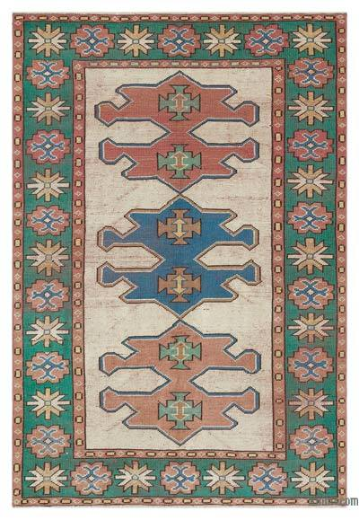 "Turkish Vintage Area Rug - 4' 4"" x 6' 4"" (52 in. x 76 in.)"