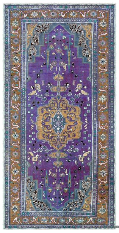 "Turkish Vintage Area Rug - 5' 1"" x 9' 11"" (61 in. x 119 in.)"