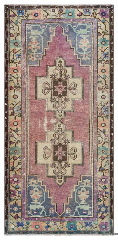 """Turkish Vintage Area Rug - 3'10"""" x 8'3"""" (46 in. x 99 in.)"""