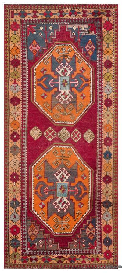 "Turkish Vintage Area Rug - 4'7"" x 10'9"" (55 in. x 129 in.)"