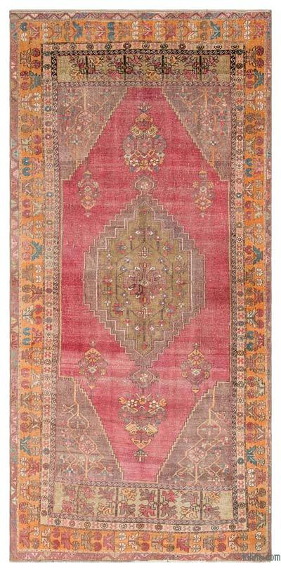"Turkish Vintage Area Rug - 4'5"" x 9' (53 in. x 108 in.)"