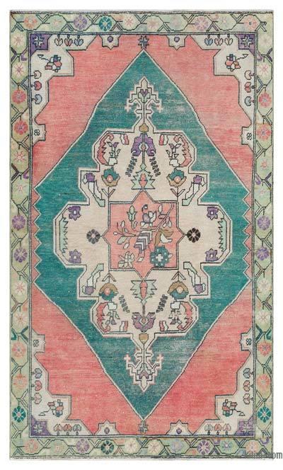 El Dokuma Vintage Halı - 131 cm x 221 cm