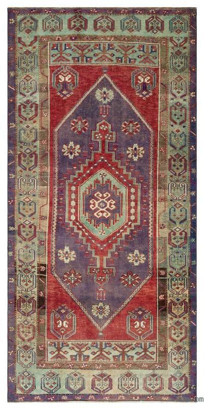 El Dokuma Vintage Halı - 122 cm x 250 cm