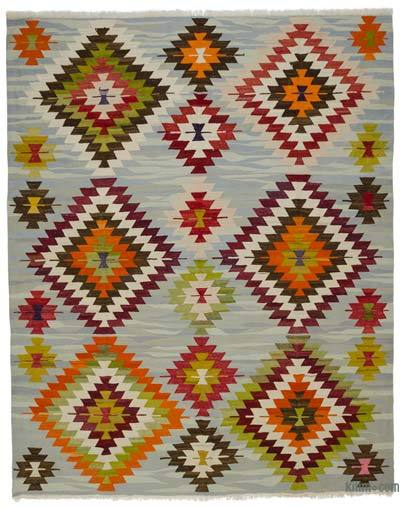 "New Turkish Kilim Rug - Vintage Yarn - 9' 3"" x 11' 5"" (111 in. x 137 in.)"